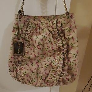 Betsey Johnson 100% leather rosebud Bag Vintage